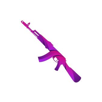 Arma ak47 design gradiente colorido