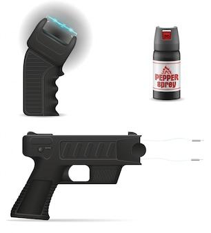 Arma de auto-defesa para proteger contra ataques de bandidos