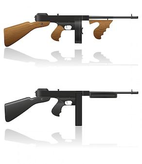 Arma de gangster thompson.
