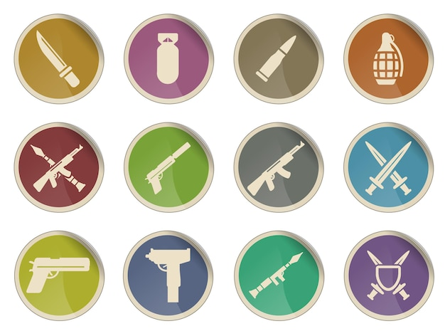 Arma simplesmente símbolo para ícones da web