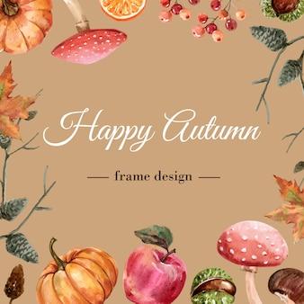 Armação de borda com tema de outono.