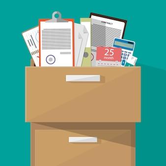 Armário de escritório com suprimentos