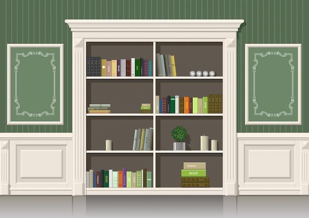 Armário de madeira de livro