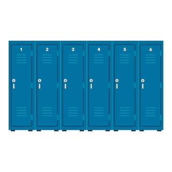 Armário seguro do ícone industrial vector azul armário. caixa de metal comercial de armazenamento de quarto.