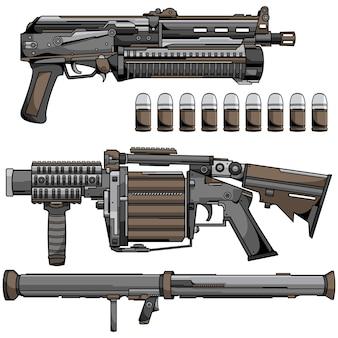 Armas modernas do exército de guerra
