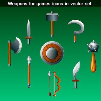Armas para o conjunto de ícones de jogos