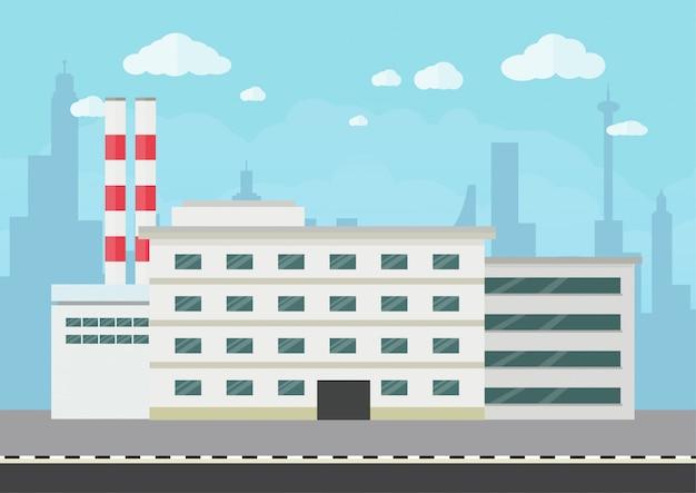 Armazém e edifício industrial design plano
