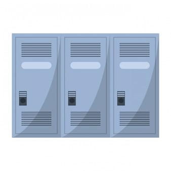 Armazenamento de armários de ginásio isolado