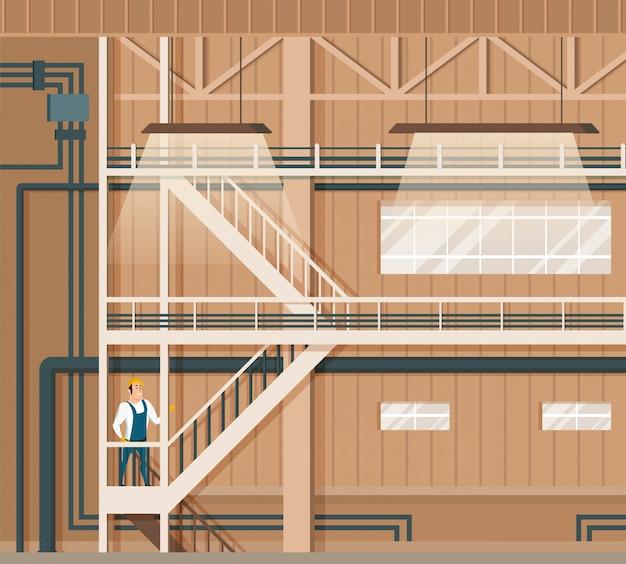 Armazenamento inteligente moderno interno ou design de armazém