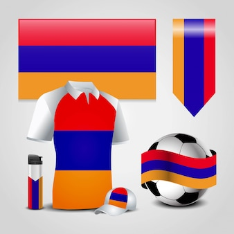 Armenia flag sports set