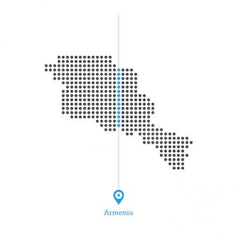 Armênia pontilhada mapa vector design