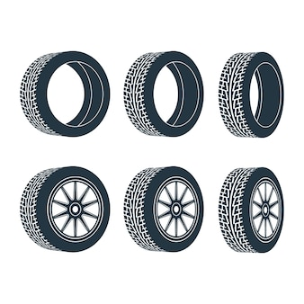 Aro da roda do carro, pneus.