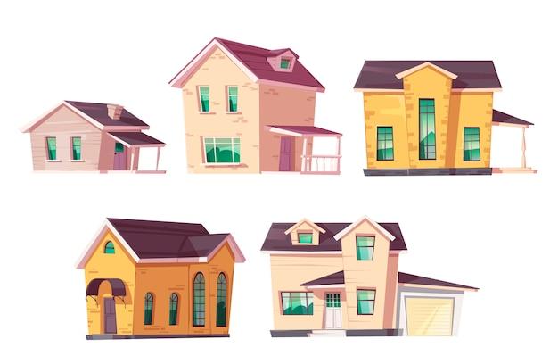 Arquitetura de casa de evolução conjunto de progresso de habitação
