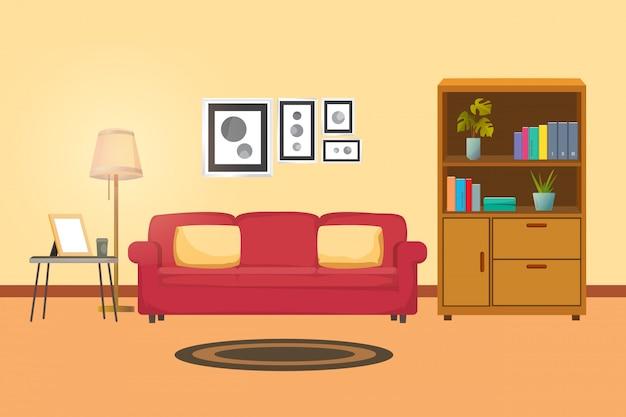 Arquitetura de interiores de sala de família