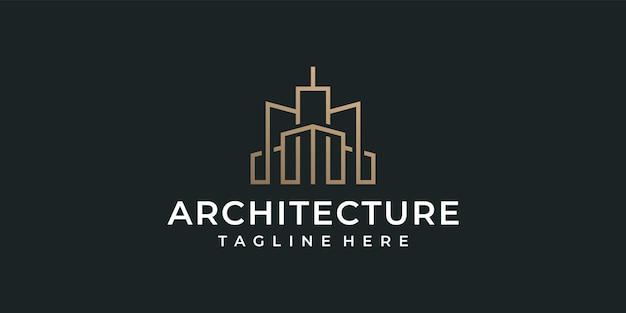 Arquitetura de monograma de luxo