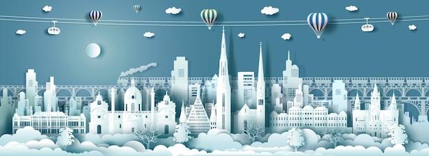 Arquitetura de viagens marcos da áustria na famosa cidade de viena, na europa.