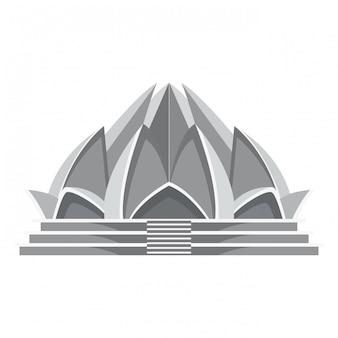 Arquitetura do templo do lótus