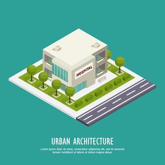 Arquitetura urbana isométrica