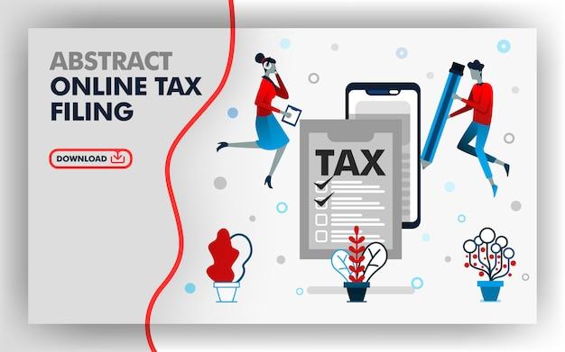Arquivamento de imposto on-line de ilustração abstrata