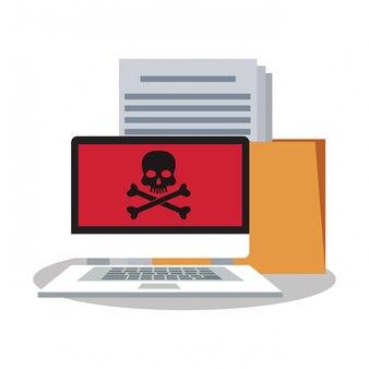 Arquivo de laptops e sistema de segurança