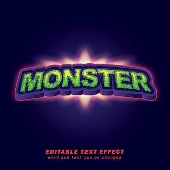Arquivo de vetor eps de efeito de texto editável monster