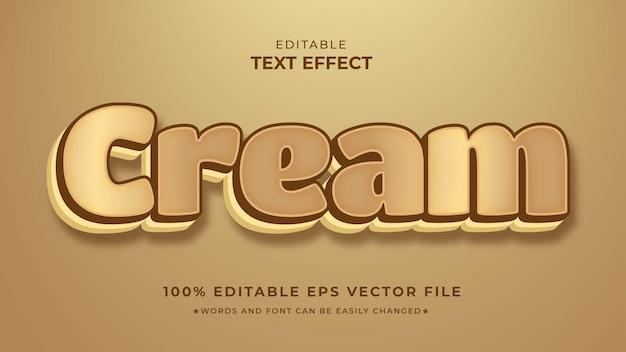 Arquivo de vetor eps editável do cream text effects