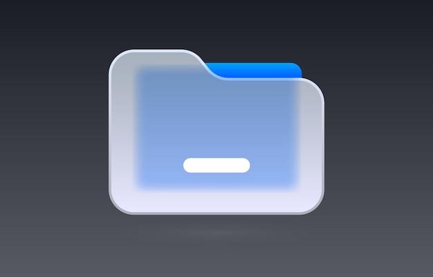 Arquivo de vidro documento ícone transparente coleção sinal vetor