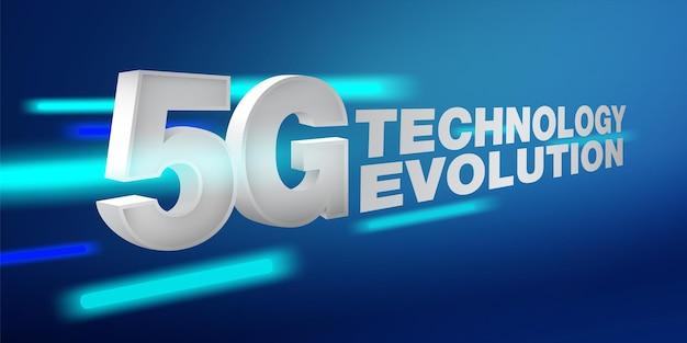 Arquivo eps de conexão de alta velocidade do conceito de evolução de rede da tecnologia 5g