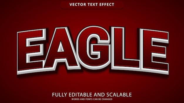 Arquivo eps editável de efeito de texto águia