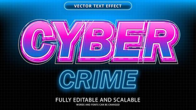 Arquivo eps editável de efeito de texto de crime cibernético