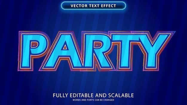 Arquivo eps editável de efeito de texto de festa