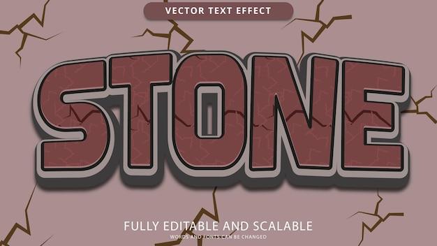 Arquivo eps editável de efeito de texto de pedra