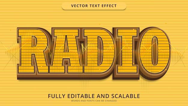 Arquivo eps editável de efeito de texto de rádio