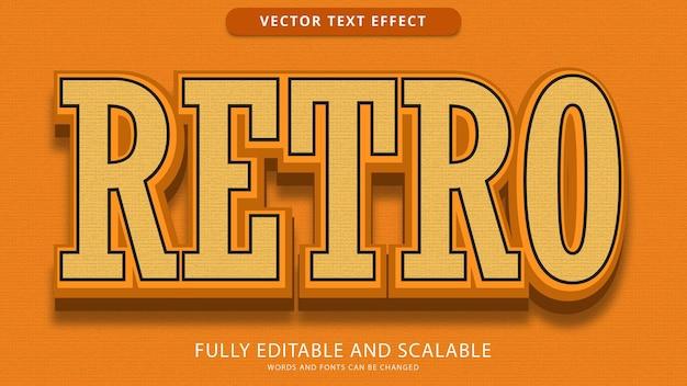 Arquivo eps editável de efeito de texto retrô