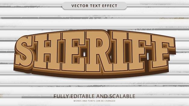 Arquivo eps editável de efeito de texto sheriff