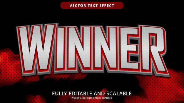 Arquivo eps editável de efeito de texto vencedor