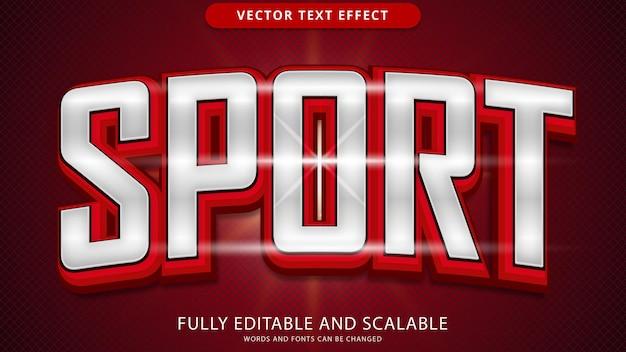 Arquivo eps editável de efeitos de texto de esportes