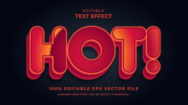 Arquivo vetorial eps editável de efeito suave de texto quente