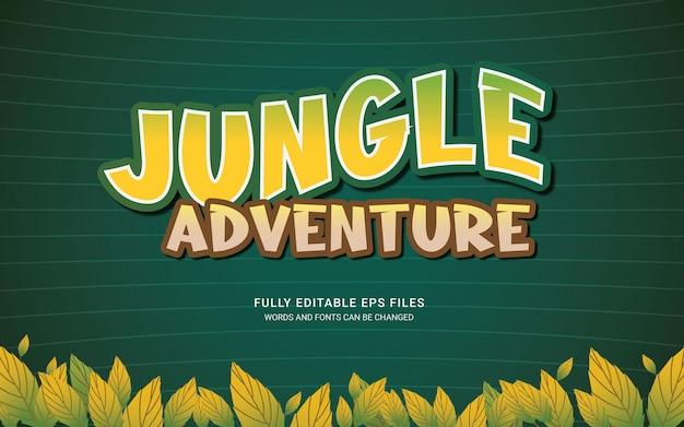 Arquivos eps de texto editáveis do jungle adventure