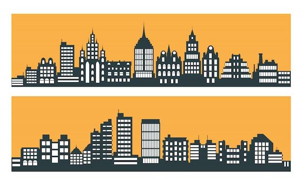 Arranha-céus da cidade moderna