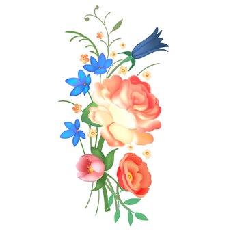 Arranjo de flores. ilustração