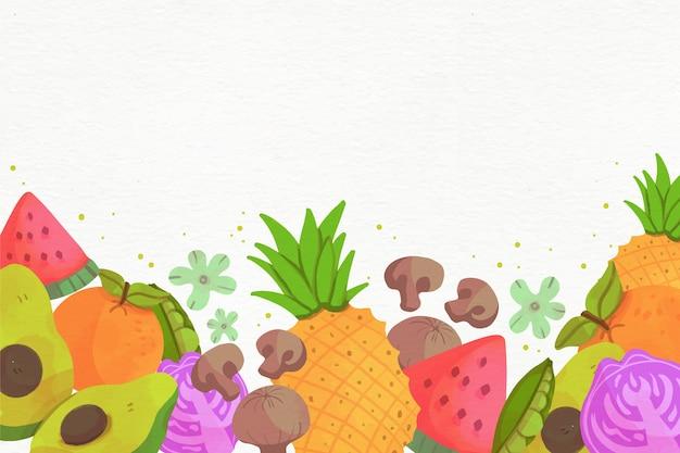 Arranjo de frutas e legumes