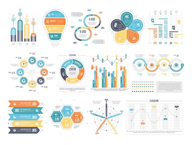 Arranjo de modelos de infográfico