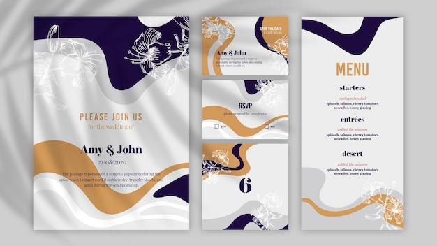 Arranjo de vários tipos de documentos de casamento