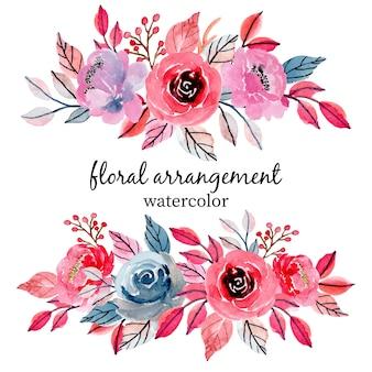 Arranjo floral do casamento da aguarela