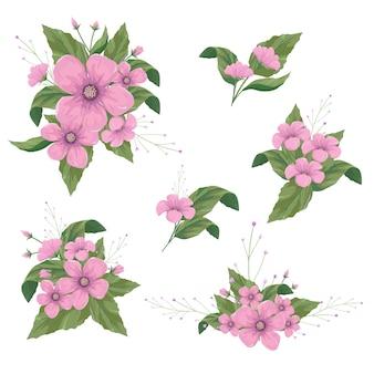 Arranjos de flores para elementos de design decorativo.