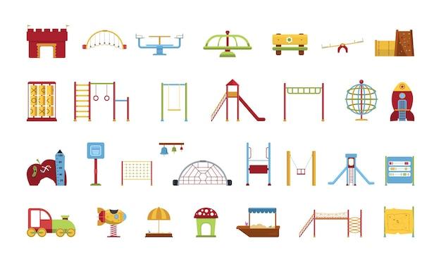 Arrecadação de equipamentos para parque infantil