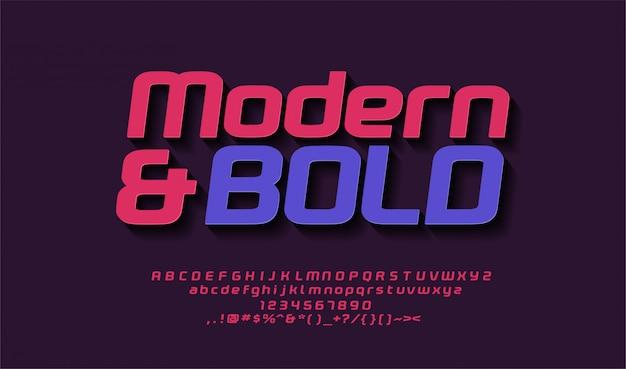 Arredondado moderno serif casual san, alfabeto bold (realce), letras maiúsculas, tipografia. música eletrônica, fonte de pôster, cor da moda.