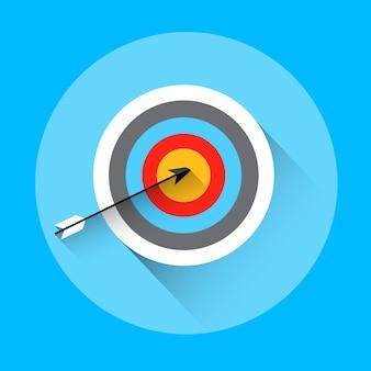 Arrow hit target archery equipment ícone do esporte
