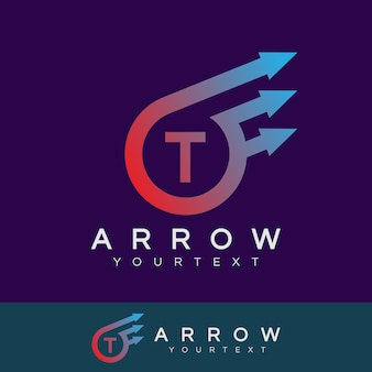 Arrow inicial letter t design do logotipo